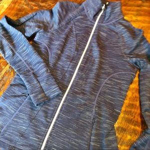 Athleta athletic jacket in blueberry heather